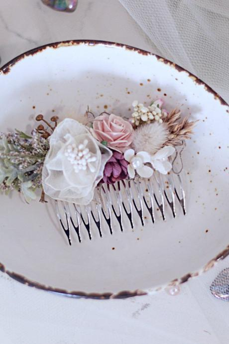 Bridal Hair comb, wedding Accessories, flower hair comb, hair comb, bridal head piece, flower comb