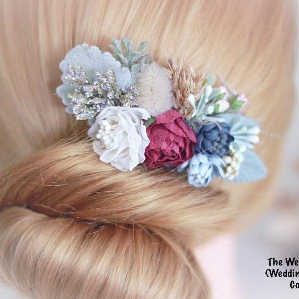 Bridal Hair comb, wedding Accessories, flower hair comb, hair comb, bridal head piece, flower comb, bridal